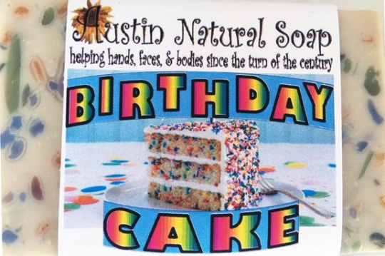 Birthday Cake Austin Natural Soap